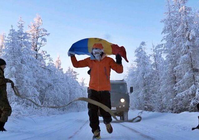 Moldovalı ekstrem sporcu, Yakutistan'da eksi 60 derecede 50 kilometre yol kat etti