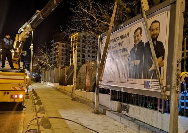 Kadıköy Belediyes, billboardlar söküldü
