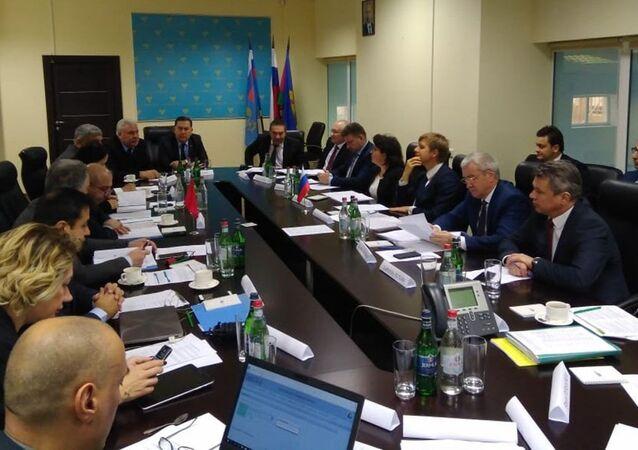 Rusya-Türkiye Uluslararası Karayolu Taşımacılığı Komisyonu toplantısından bir kare