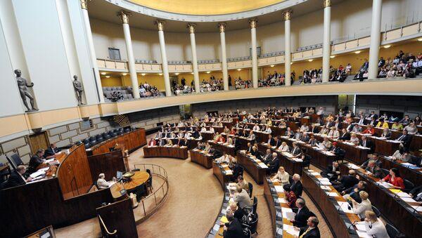 Finlandiya meclis binasının içeriden bir görünümü - Sputnik Türkiye