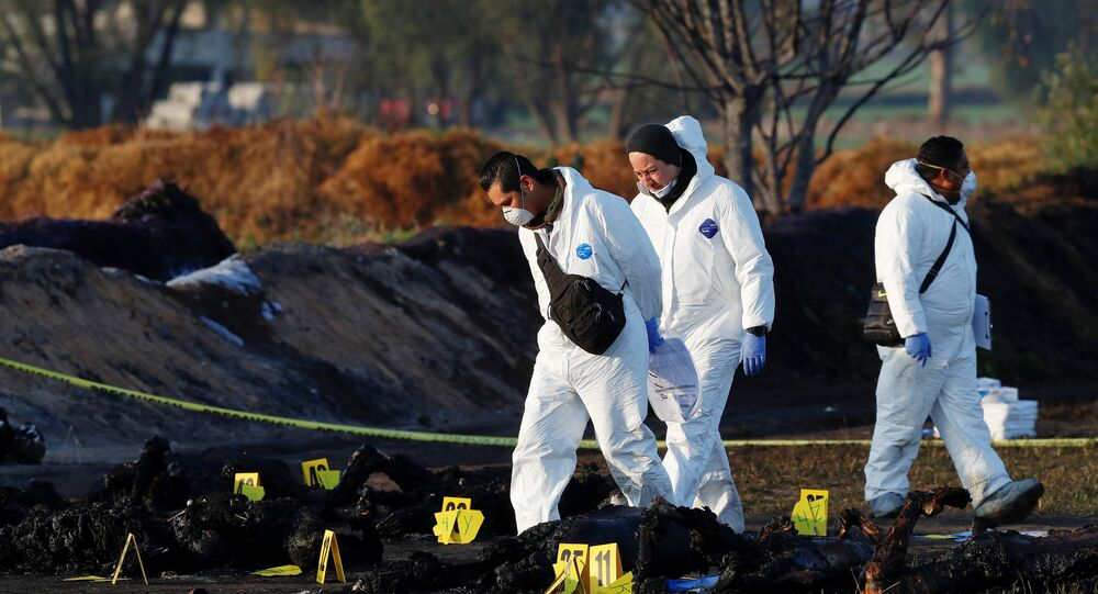 Meksika'da akaryakıt boru hattında patlama