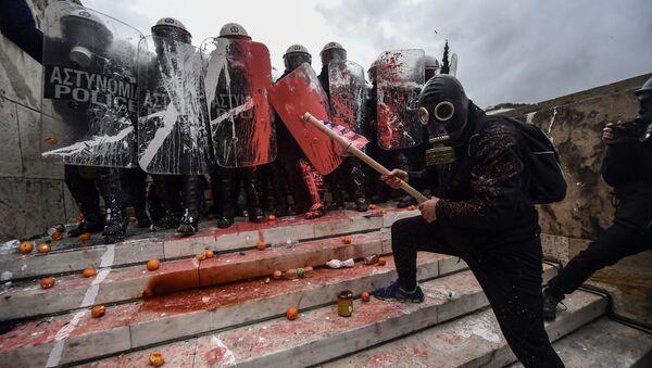 Yunanistan'daki protesto gösterileri - Sputnik Türkiye