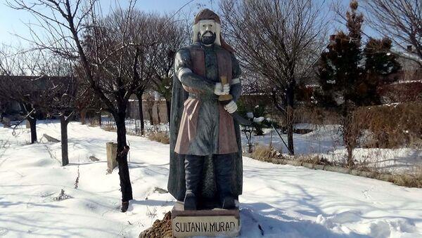 Çin'de yaptırılıp Van'a getirilen Osmanlı padişahının mermer heykeli - Sputnik Türkiye