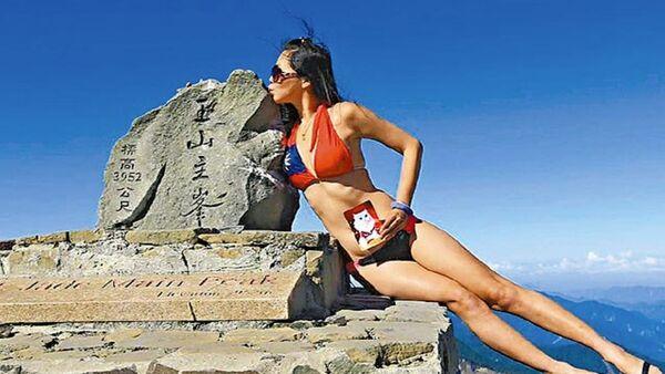 bikinili dağcı Gigi Wu - Sputnik Türkiye