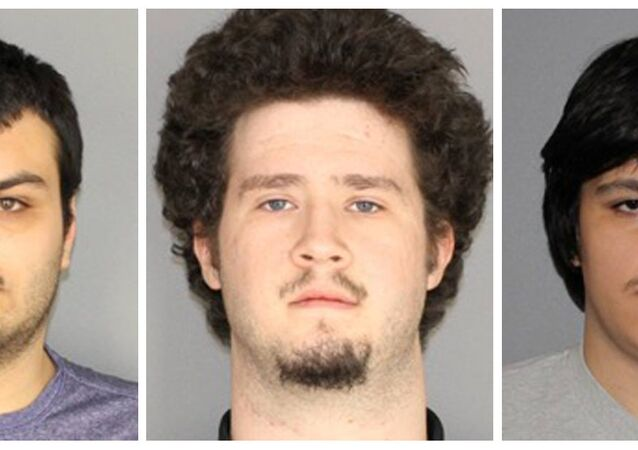 New York eyaletinde Müslüman bir topluluğa bombalı saldırı hazırlığı suçalamasıyla yakalanan 4 kişiden 3'ü: Vincent Vetromile, (19), Brian Colaneri (20), Andrew Crysel (18) (soldan sağa)