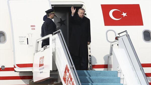 Cumhurbaşkanı Recep Tayyip Erdoğan, Rusya'nın başkenti Moskova'ya gitti - Sputnik Türkiye