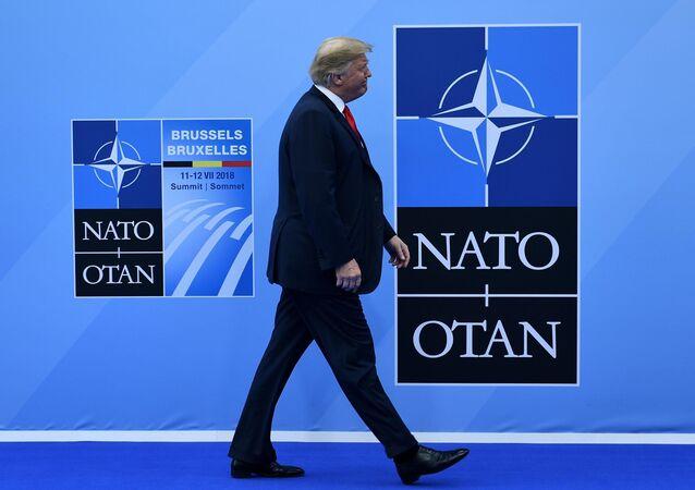 Donald Trump'ın 11 Temmuz 2018 NATO zirvesine gelişi