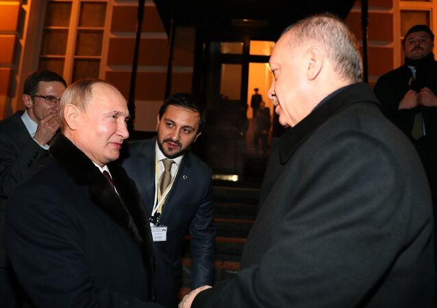 Cumhurbaşkanı Recep Tayyip Erdoğan-Rusya Devlet Başkanı Vladimir Putin