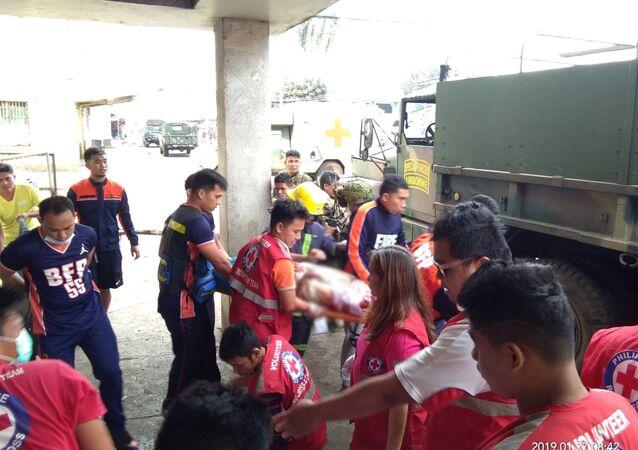 Filipinler'de kiliseye saldırı