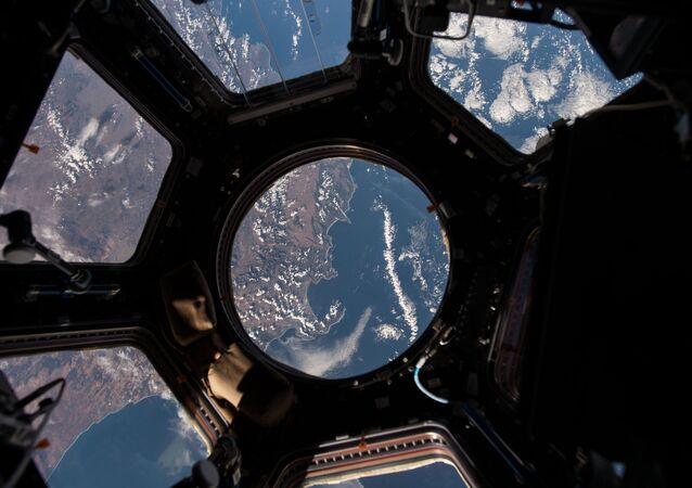 NASA astronaut Scott Kelly on the International Space Station took this Earth observation photo in the stations cupola that provides a 360 degree view. He tweeted this image with the comment: The view out my window.
