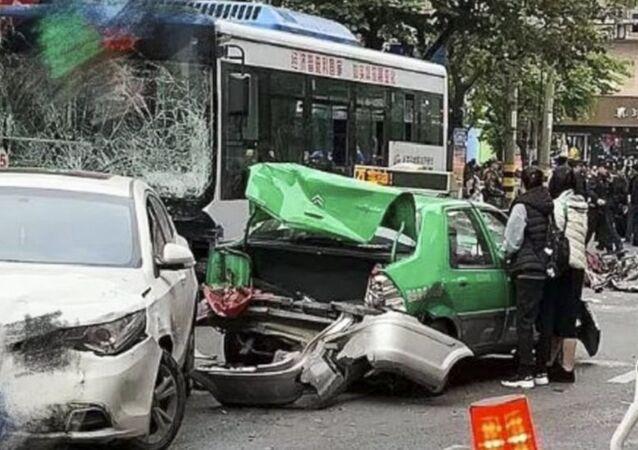 Çin Fujian'da gerçekleşen otobüs kaçırma olayı