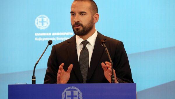 Yunanistan hükümet sözcüsü Dimitris Tzanakopoulos - Sputnik Türkiye