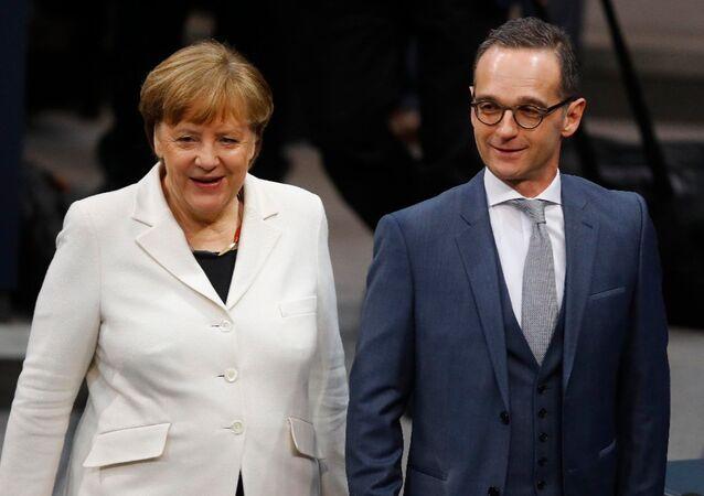 Angela Merkel ile Heiko Maas