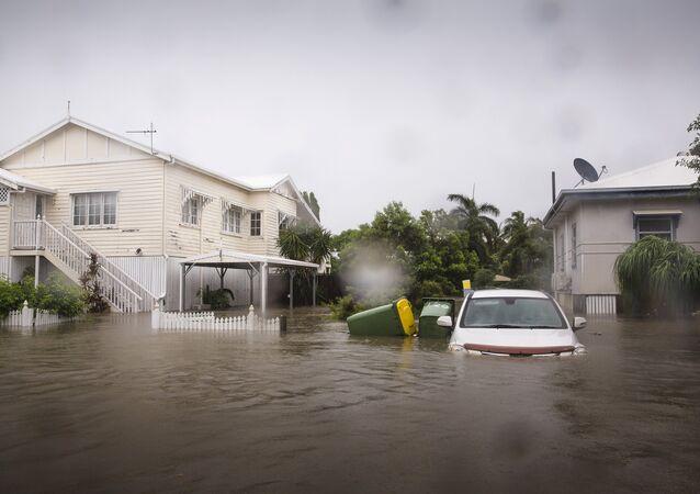 Avustralya Townsville'de yaşanan sel felaketi