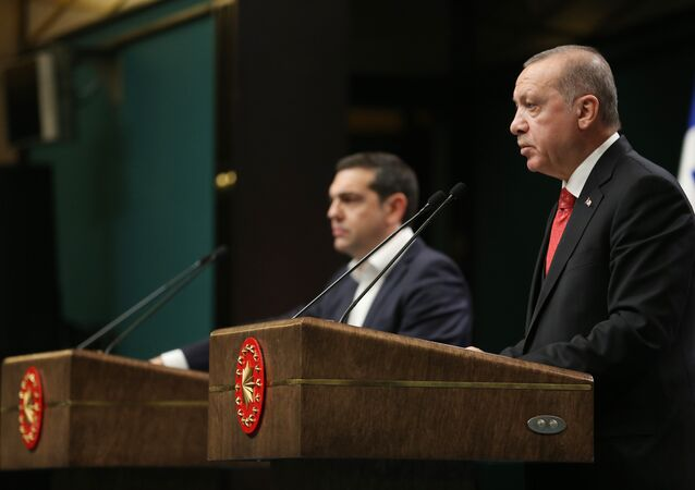 Cumhurbaşkanı Recep Tayyip Erdoğan, Yunanistan Başbakanı Aleksis Çipras