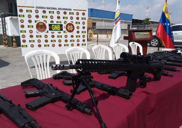 Venezüella'da ABD silahları ele geçirildi
