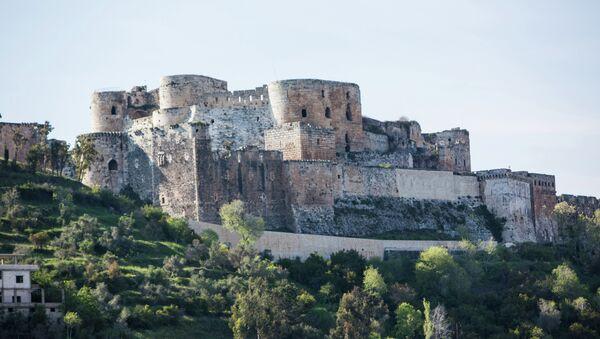Suriye'nin Humus kentindeki Krak des Chevaliers isimli tarihi kale - Sputnik Türkiye