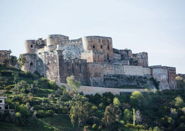 Suriye'nin Humus kentindeki Krak des Chevaliers isimli tarihi kale