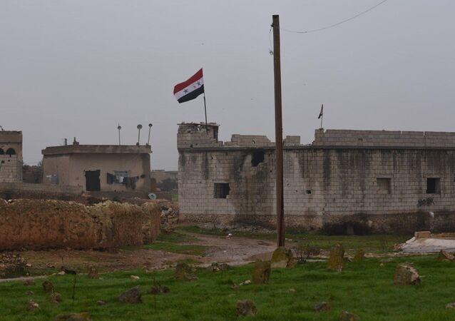 Menbiç - Suriye bayrağı