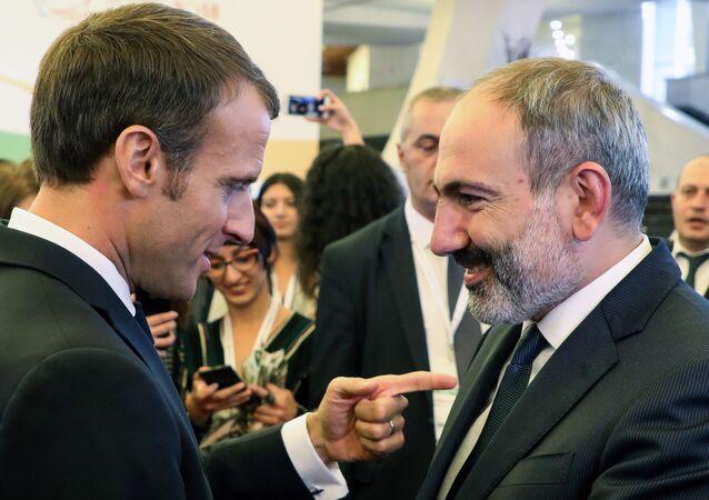 Ermenistan Başbakanı Nikol Paşinyan- Fransa Cumhurbaşkanı Emmanuel Macron