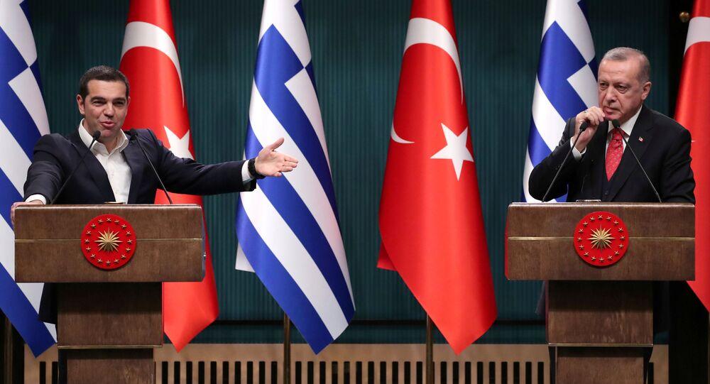 Aleksis Çipras- Recep Tayyip Erdoğan