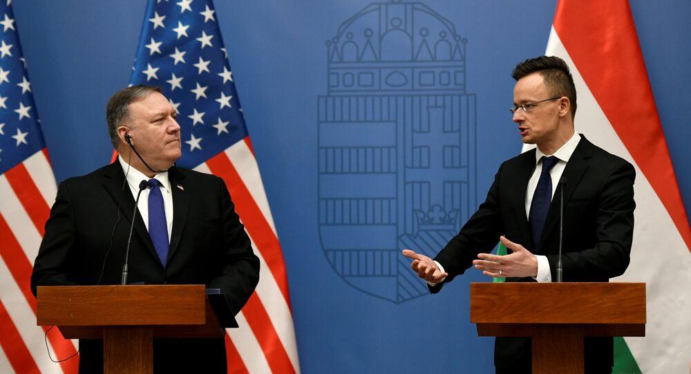 ABD Dışişleri Bakanı Mike Pompeo- Macar mevkidaşı Peter Szijjarto