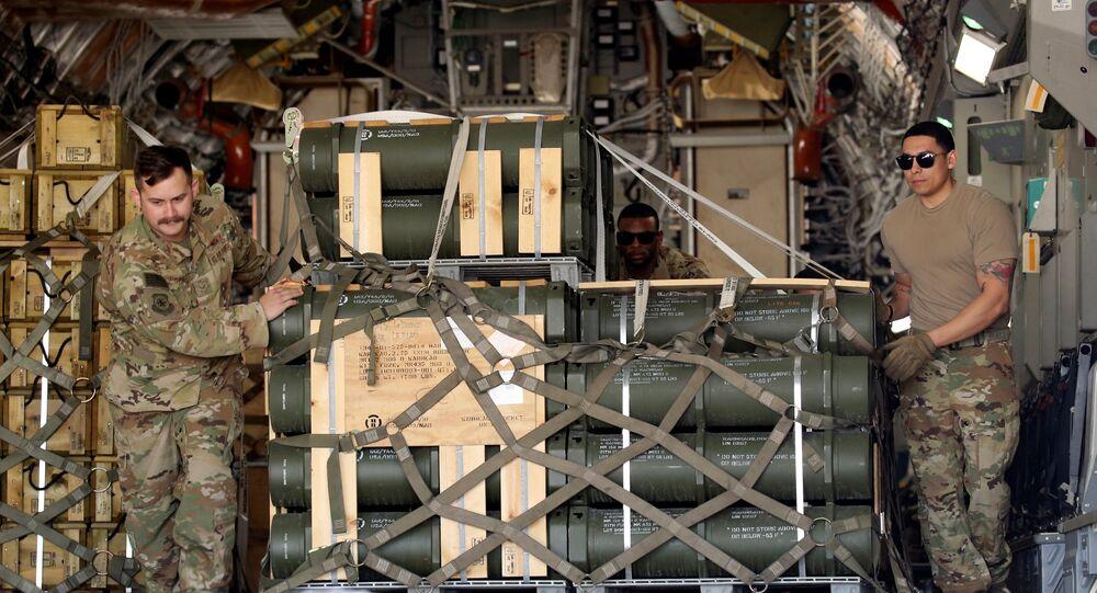ABD hava kuvvetleri personeli, Beyrut Hava Üssü'ne füze nakliyatı gerçekleştirdi.