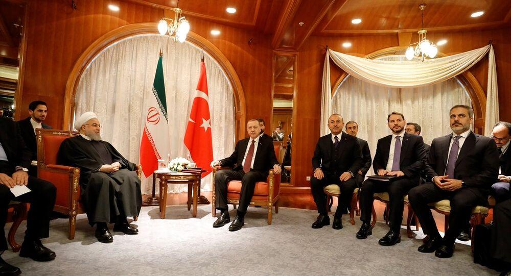 Türkiye Cumhurbaşkanı Recep Tayyip Erdoğan ile İran Cumhurbaşkanı Hasan Ruhani