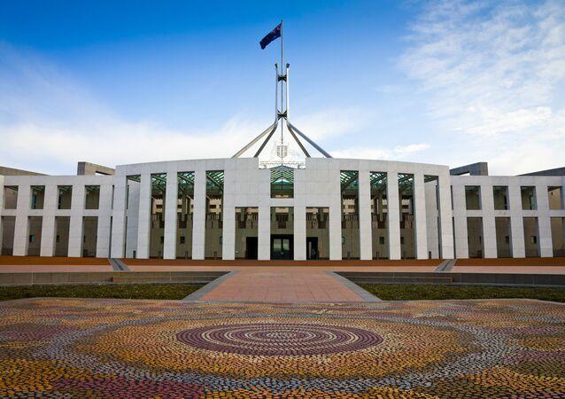 Canberra'daki Avustralya parlamentosu