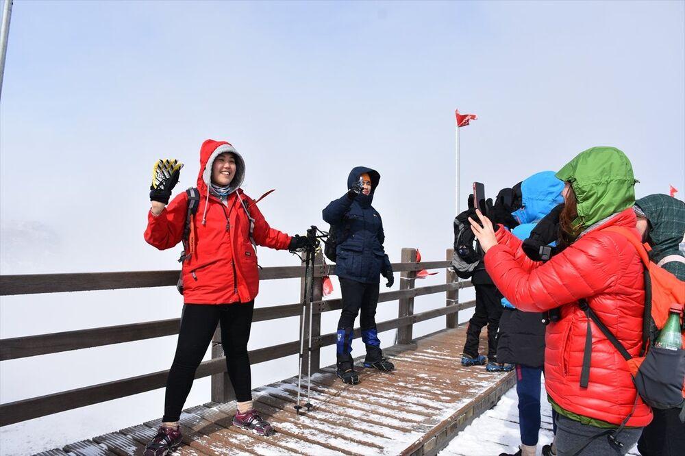 Güney Kore'deki Halla dağı