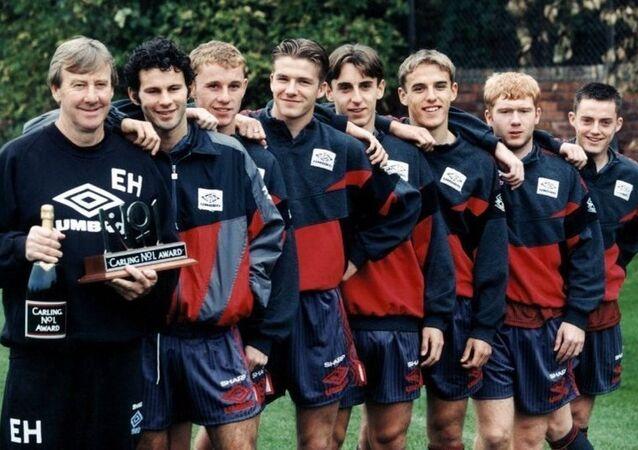 Manchester United efsanesi Eric Harrison ile 92 Sınıfı
