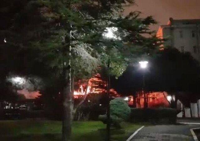 Marmara Üniversitesi yangın