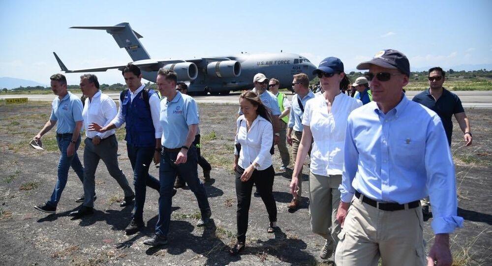 Venezüella için 'insani yardım' taşıyan ABD Hava Kuvvetleri uçakları Kolombiya'da