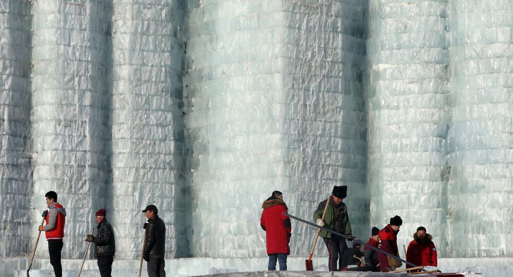 Çin'deki Harbin Buz ve Kar Heykel Festivali