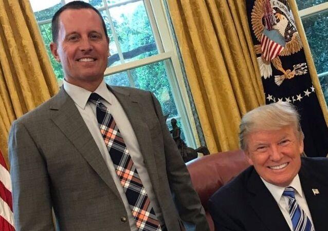 Donald Trump, Oval Ofis'te Richard Grenell ile