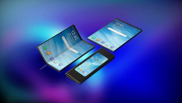 Samsung, katlanabilir telefonu Galaxy Fold'u duyurdu - Sputnik Türkiye