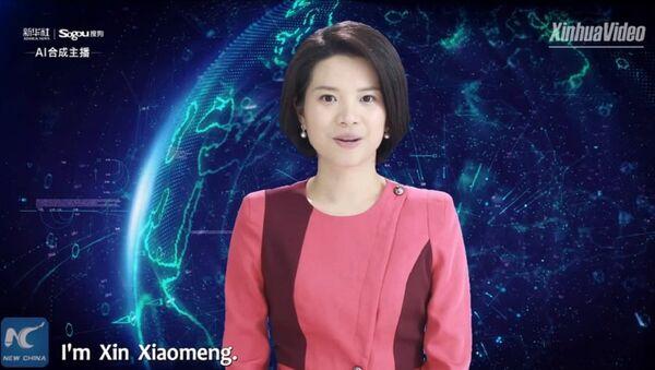 Dünyanın ilk kadın yapay zeka sunucusu Xin Xiaomeng - Sputnik Türkiye