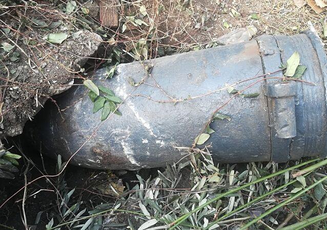Kocaeli'nin Gölcük ilçesinde, patlamamış top mermisi bulundu.