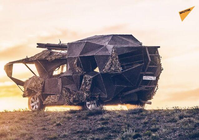 Rus araba tamircisinden 'kıyamet sonrası' tarzı canavar araçlar