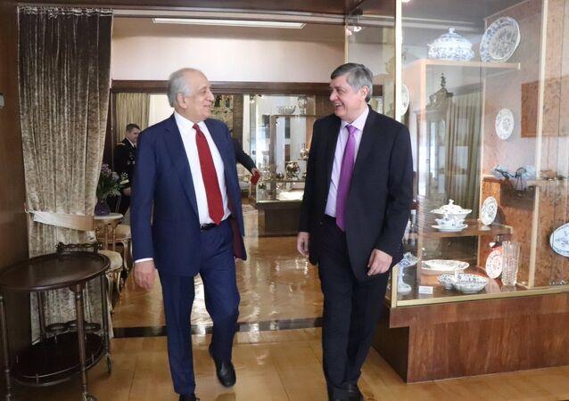 ABD'nin Afganistan Özel Temsilcisi Zalmay Halilzad ve Rusya Devlet Başkanı Vladimir Putin'in Afganistan Özel Temsilcisi Zamir Kabulov