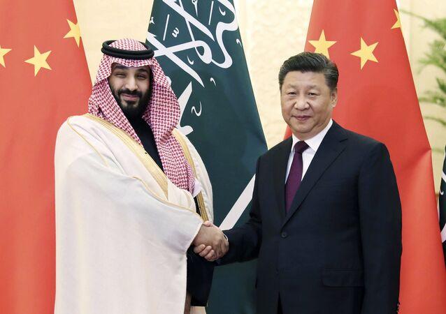 Suudi Arabistan Prensi Muhammed Bin Selman ve Çin Devlet Başkanı Şi Cinping