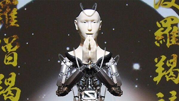 Robot keşiş gençlere Budizm eğitimi verecek - Android Kannon - Sputnik Türkiye