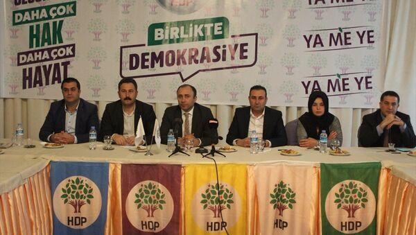 HDP, Şanlıurfa, Hidayet Enmek (sol 3) - Sputnik Türkiye