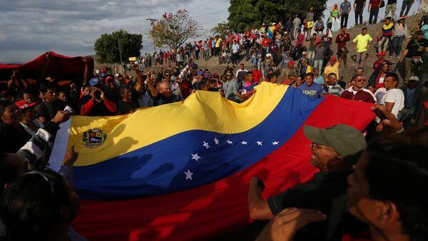 Venezüella'da Nicolas Maduro hükümetine destek eylemi - Sputnik Türkiye