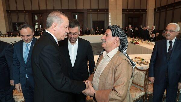 Cumhurbaşkanı Recep Tayyip Erdoğan, Doğu ve Güneydoğu Anadolu Bölgesinden Bazı Kanaat Önderlerini kabul etti. - Sputnik Türkiye