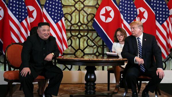 Kim Jong-un- ABD Başkanı Donald Trump - Sputnik Türkiye