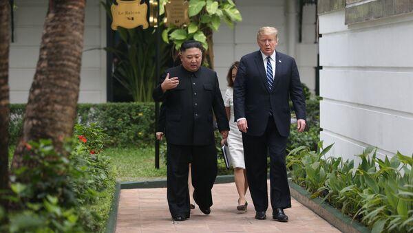 Donald Trump- Kim Jong-un - Sputnik Türkiye