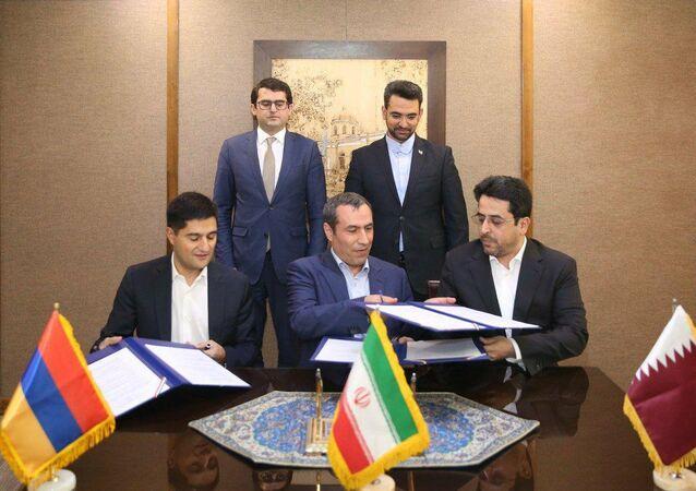 Ermenistan, İran ve Katar'dan telekomünikasyon anlaşması