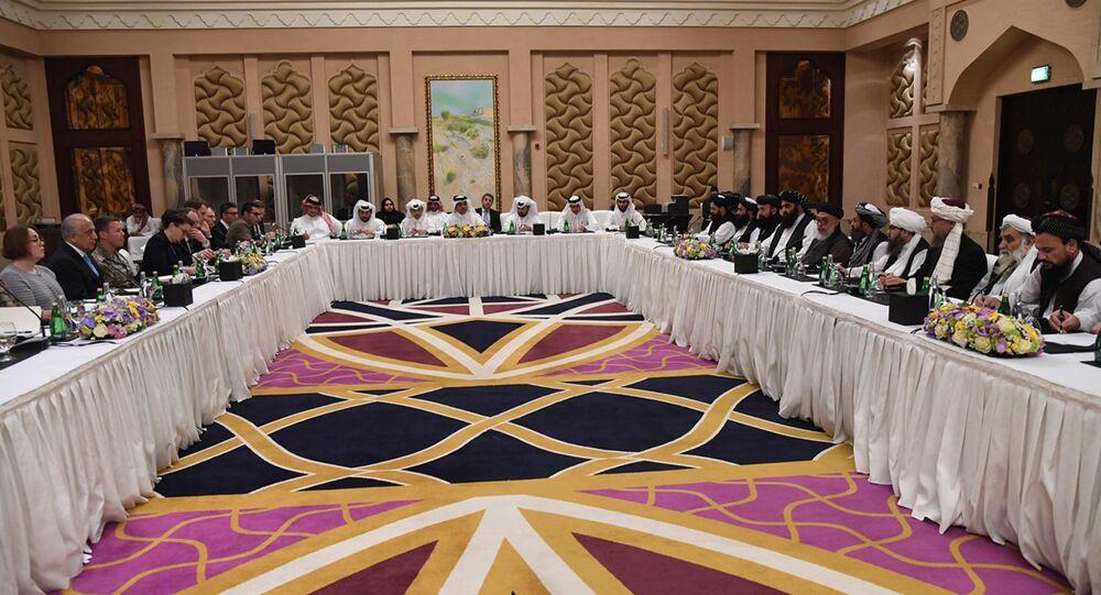 ABD'nin Afganistan Özel Temsilcisi Zalmay Halilzad, Taliban heyeti ve Katar hükümet yetkilileri, Doha'da buluştu