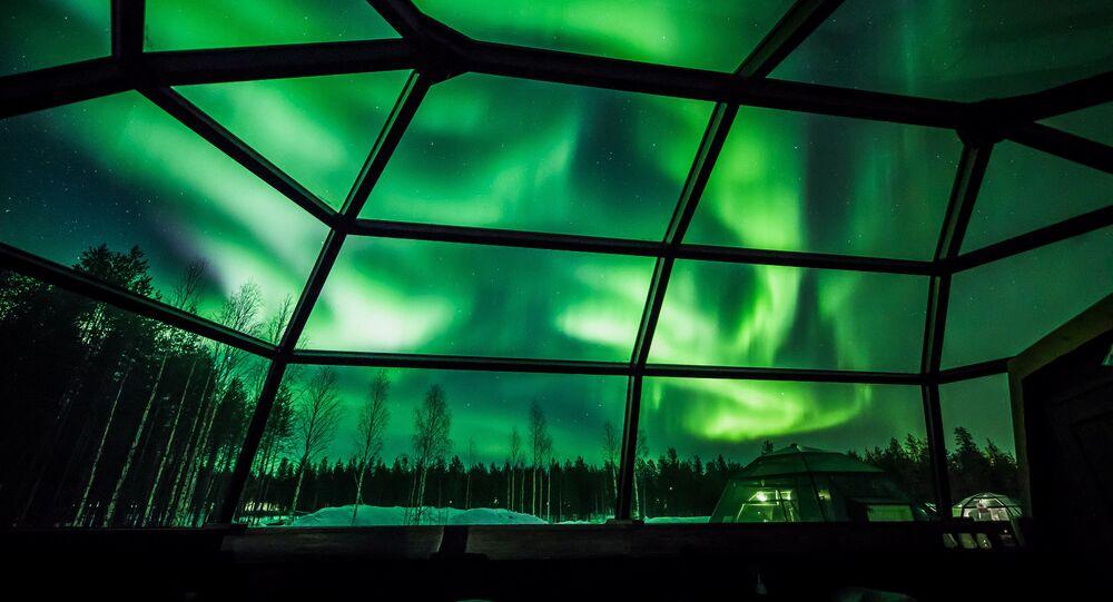 Finlandiya'da kutup ışıkları